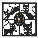 【特別価格】【モンプチシャ】モンプチシャ シルエット掛時計 スクエア