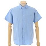 【夏物新作】きれいな仕上がり、ボタンダウンオックス半袖シャツ 定番4色
