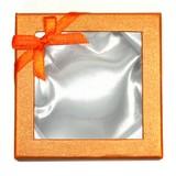 【天然石販促パッケージ・タグ】ブレスレットケース(紙) (10個セット) オレンジ【天然石 パワーストーン】