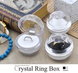 Jewelry Case Supply Casual Crystal Ring Box Clear Ring Box