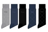 【Web展】<メンズ>12月中旬ご配送2017年新春ラングラ−福袋カジュアルソックス5足セットポ−チ入