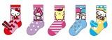 【Web展】12月中旬ご配送キッズ☆サンリオキャラミックス☆ソックス5足セットポ−チ入り