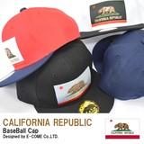 【当社生産 国内ライセンス】カリフォルニアリパブリック CALIFORNIA REPUBLIC CAP キャップ 帽子