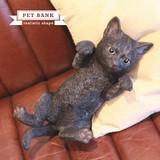 大人気! リアルな動物の貯金箱【PET BANK CAT】ペットバンク キャット
