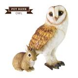 大人気!リアルな動物の貯金箱 【PET BANK OWL】ペットバンク オウル