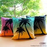 【セブ】 クッションカバー 45×45cm ヤシの木 椰子の木 トロピカル パームツリー ハワイアン