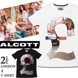 ◇2016春夏新作◇ALCOTT アルコット メンズ フォトプリント Tシャツ<LONDON &£>