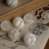 デッドストックフランスパール加工ヴィンテージボタン [antiquebutton67]