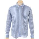 新感覚! 手ぬぐい素材で涼しい ボタンダウン長袖シャツ