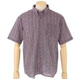 新感覚! 手ぬぐい素材で涼しい ボタンダウン半袖シャツ
