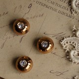 デッドストックフランスドーム型ヴィンテージボタン metal[antiquebutton81]