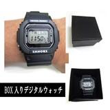 【あらま!まんま!】ブラックスピードデジタルトイウォッチ腕時計※箱入り