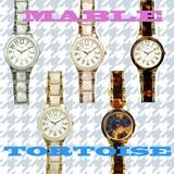 Plaisir(プレジール)ラウンドフェイス2.8cm腕時計