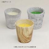 ■虫除けグッズ特集■ 虫よけCitronella Candle 3型アソート