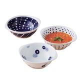 【SALE】藍丸紋 手付軽量鉢トリオ