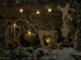 【2016クリスマス】LEDがきらめく絵 LEDPicture Light-Snow Candles Sサイズあり