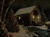 キャンペーン対象!【2016クリスマス】LEDがきらめく絵 LED Picture Light-House in Snowing