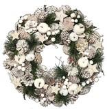 【2016クリスマス先行】クリスマス リース-White Apple & Star S/M