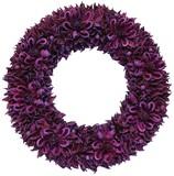 【2016クリスマス先行】LED クリスマス リース-Nuts & Petal (Purple) M/L