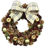 【2016クリスマス先行】LED Ribbon クリスマス リース-Golden Apple & Berry M