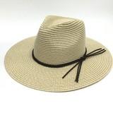 三つ編み飾り 中折れ帽