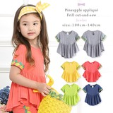 Pineapple Applique Flare Cut And Sewn 5 Colors Girls