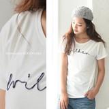 コード刺繍ロゴTシャツ◆423444