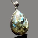 天然石 ペンダントトップ ラブラドライト ドロップ 17g 《SION パワーストーン 天然石》