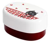 ■【漆器】腹ペコ猫 弁当箱【赤】
