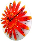 Life Art Flower Clock Wall Clock