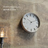 無骨感がスタイリッシュ【BETON CLOCK】ベトン(コンクリート) クロック