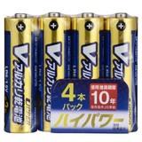 【信頼のOHMブランド】高性能アルカリ乾電池10年タイプ