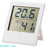 【信頼のOHMブランド】時計付き温湿度計 TEM−200