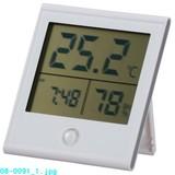 【信頼のOHMブランド】時計付温湿度計 TEM210