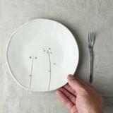 【特価品】儚草 17.5cm丸皿[B品][日本製/美濃焼/和食器]