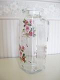 【ローズヴィーナス】ガラスポット<日本製><花柄・バラ柄>