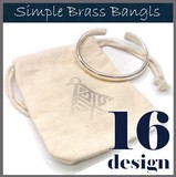 【一部再入荷♪】 シンプル ブラス製 バングル トレンド ハンドメイド メンズ ネイティブ 芸能人