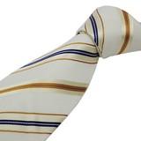 紳士ネクタイウォッシャブルネクタイ(アイボリー/マルチストライプ)洗えるネクタイ