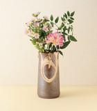 在庫あるだけ!■常滑焼【花器】山田白釉8号投入れ花器