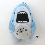 Soft Toy Ball Chain White shark