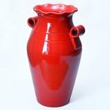 【ポルトガル製】テラコッタ 赤 傘立て ハンドル付き アンフォラタイプ レッド 素焼き