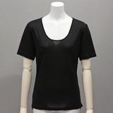 【吸湿・発散作用】シルクインナー半袖Tシャツ(シルク100%)<大きいサイズ>