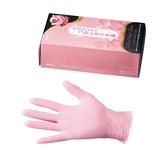 ロゼピンクのつかいきり手袋(ニトリル)
