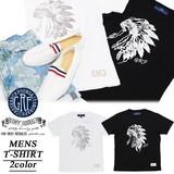※2016春夏商品SALE!GRF ジーアールエフ メンズ インディアン ウォーボンネット Tシャツ<2カラー>