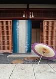 【直送OK】【日本製】ボカシ更紗 4002 手捺染 ブルー のれん オールシーズン使用可能