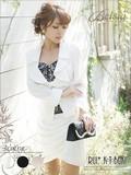 【Belsia】コルクライン スカートスーツ<フェイクインナー付き ,フォーマル,入園式,入学式,ママスーツ