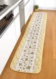 キルトマット ラズベリー(イエロー・250)< ロングタイプ 花柄 キルト >