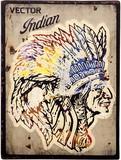 アンティークエンボスプレート[Indian]