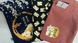 和粋屋 和柄巾着 大き目 2016 招き猫と富士山