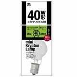 ミニクリプトン球 40W型 1P ホワイト M5-2063 【1個】